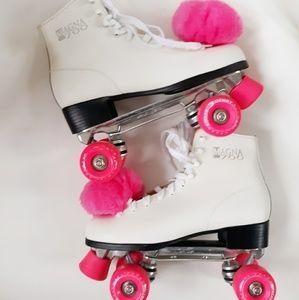 Women's Pacer Magna 700 White & Pink Rollerskates